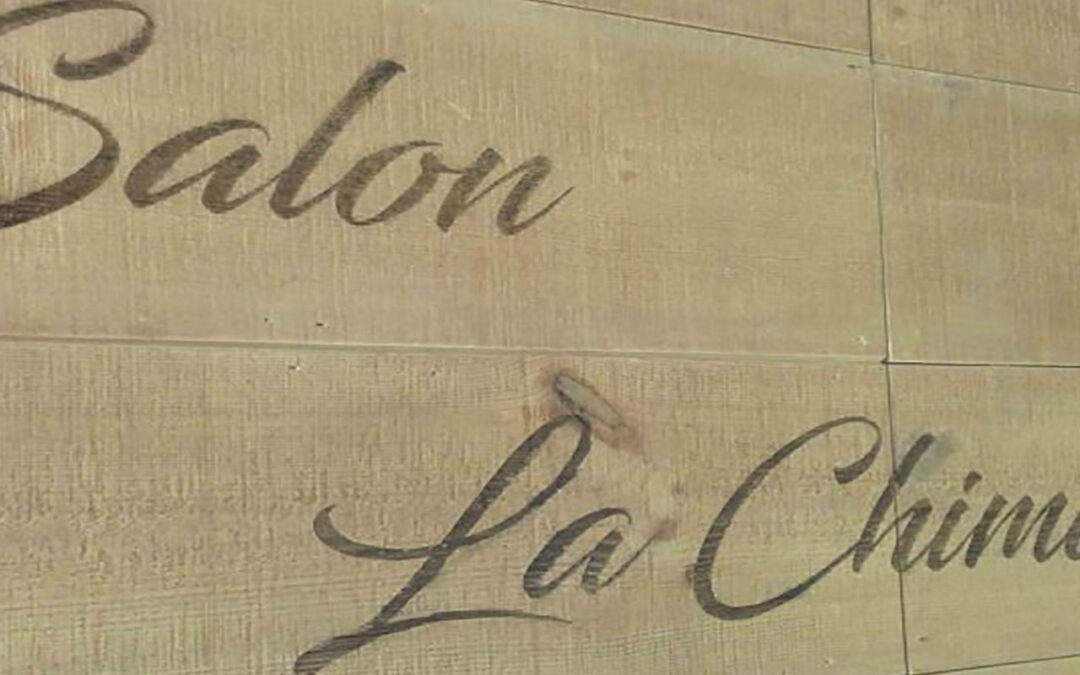 Decoración de restaurante grabado con láser en madera